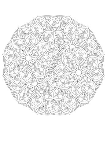 Free Printable  Floral Mandala Coloring Page