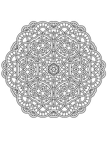 Free Printable  Mandala Fun Coloring Page