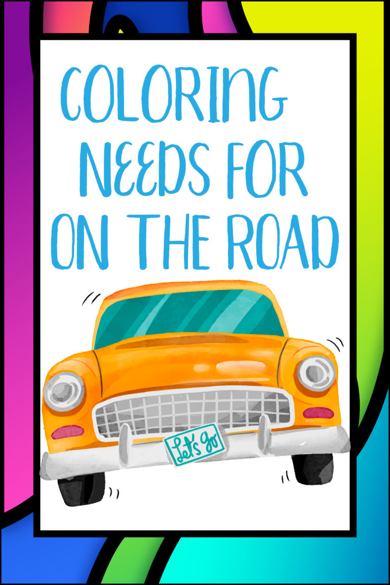 coloring needs for the road