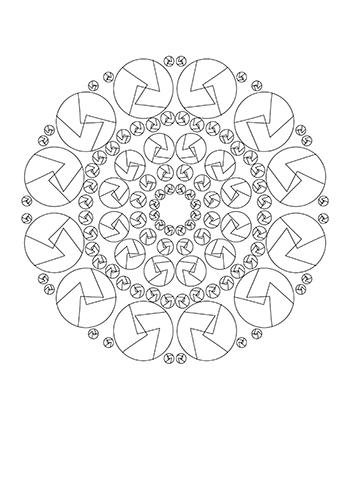 Free Printable  Fun Mandala Adult Coloring Page