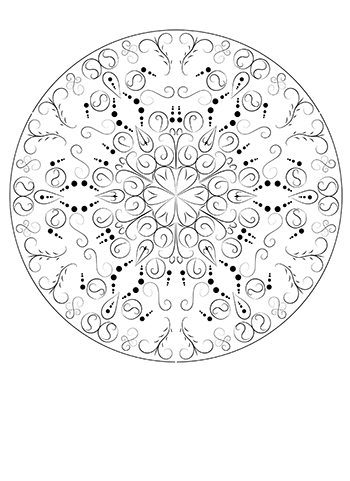 Free Printable  Hand Line Mandala Adult Coloring Page